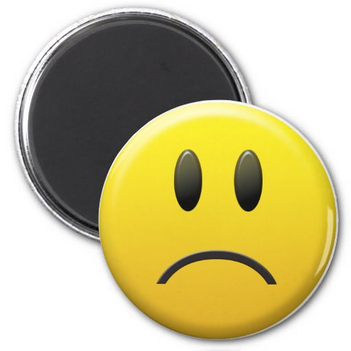 Sad Smiley Face Fridge Magnets