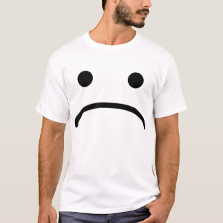 SAD SMILEY FACE ON T SHIRT