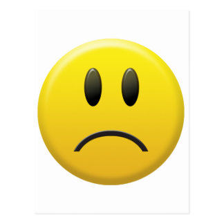Sad Smiley Face Postcard