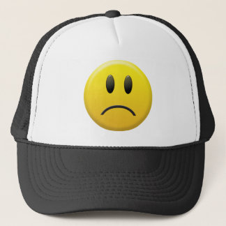 Sad Smiley Face Trucker Hat