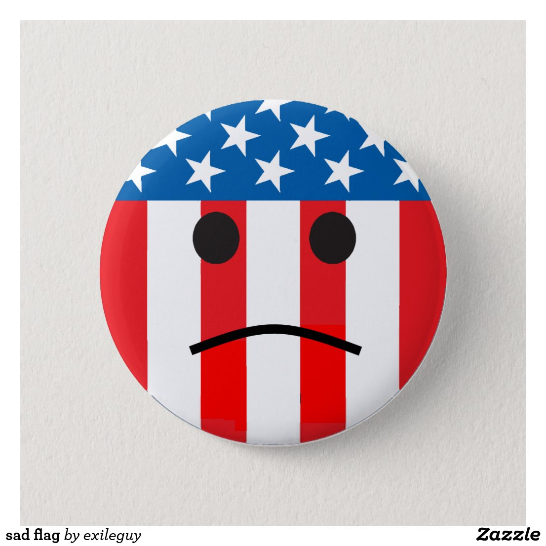 sad smiley flag button