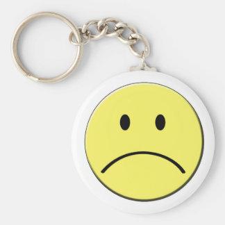 Sad Smiley Keychain