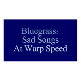 Sad Songs at Warp Speed - Bluegrass Band Business Card