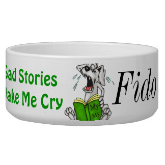 Sad Stories Customized Dog Bowls