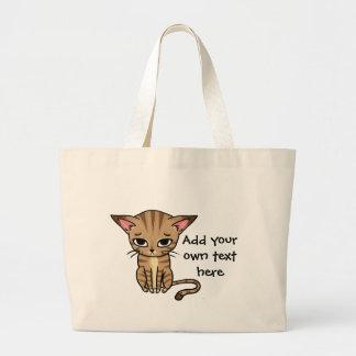 Sad Tabby cat Kitten Bag