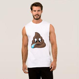 Sad Tear Poop Emoji Sleeveless Shirt