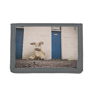 Sad Themed, Lonely Sad Bunny Dolls Looks Unwanted Tri-fold Wallet