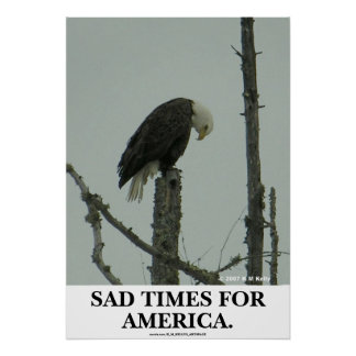 SAD TIMES FOR AMERICA. POSTER