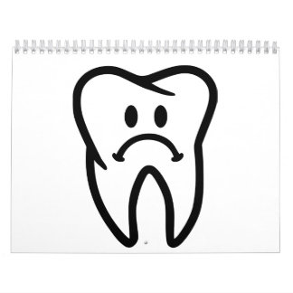 Sad tooth face wall calendar