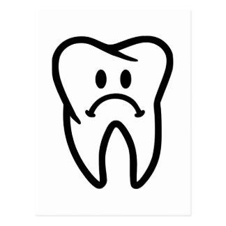 Sad tooth face postcard