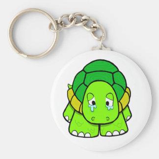 Sad tortoise key chain