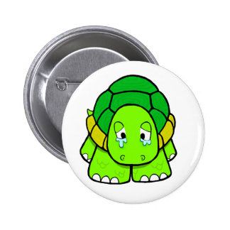 Sad tortoise pinback button