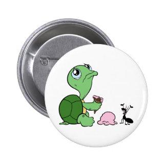 Sad Turtle Happy Ant 2 Inch Round Button