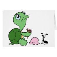 Sad Turtle Happy Ant Card