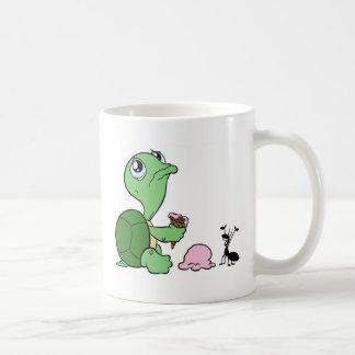 Sad Turtle Happy Ant Classic White Coffee Mug