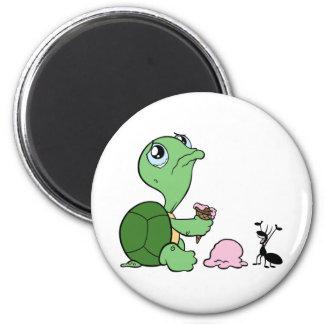 Sad Turtle Happy Ant Magnet