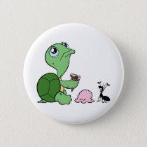 Sad Turtle Happy Ant Pinback Button