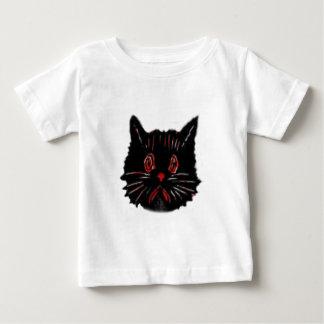 Sad Unhappy Frown Glum Gloomy Down Black Cat Baby T-Shirt