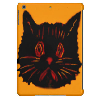 Sad Unhappy Frown Glum Gloomy Down Black Cat Cover For iPad Air