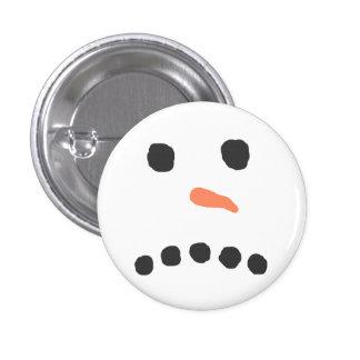Sad Unhappy Snowman Face Bah Humbug Pinback Button