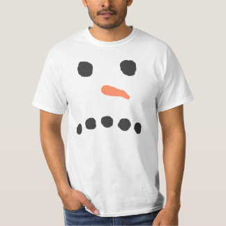 Sad Unhappy Snowman Face Bah Humbug T-Shirt