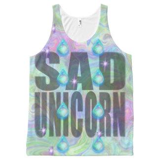 Sad Unicorn Tears Magic Rainbow Pastel Top All-Over Print Tank Top