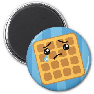 Sad Waffle 2 Inch Round Magnet
