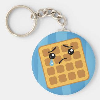 Sad Waffle Keychain