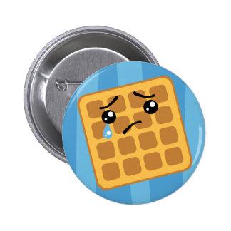 Sad Waffle Pinback Button