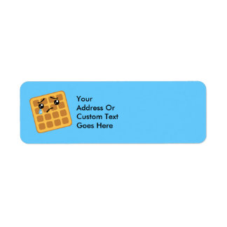 Sad Waffle Return Address Lables Label