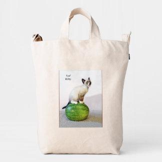 Sad Watermelon Kitty Duck Tote Duck Bag