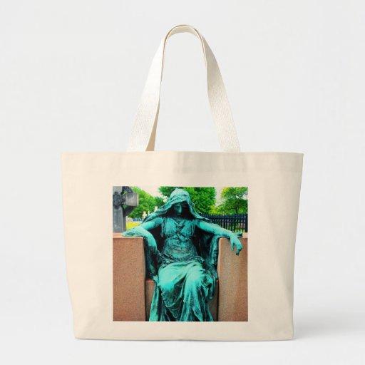 Sad Woman Jumbo Tote Bag