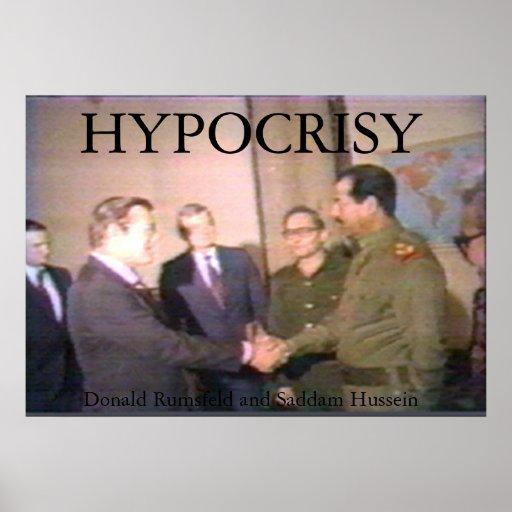 Saddam y el Rummy hacen un trato Póster