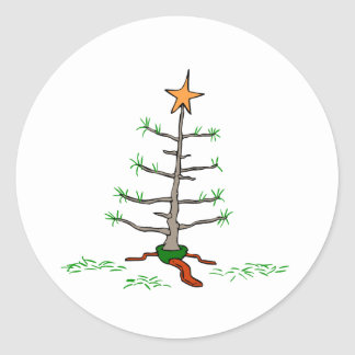 Saddest Christmas Tree Classic Round Sticker