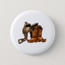 Saddle and Boots Pinback Button