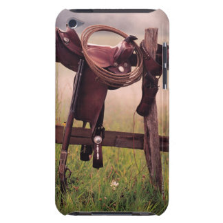 Saddle and lasso on fence iPod touch cover