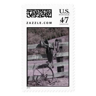 saddle b and w stamp