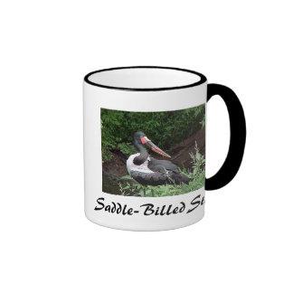 Saddle-Billed Stork Ringer Coffee Mug
