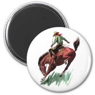 Saddle Bronc Riding 2 Inch Round Magnet