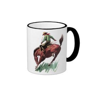 Saddle Bronc Riding Ringer Mug