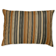 Saddle Brown and Black Striped Pattern Pet Bed