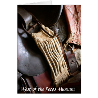Saddle from West of the Pecos Museum Card