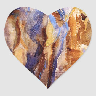 Saddle Horse, Palestine by John Singer Sargent Heart Sticker