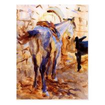 Saddle Horse, Palestine by John Singer Sargent Postcard