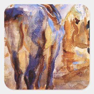 Saddle Horse, Palestine by John Singer Sargent Square Sticker