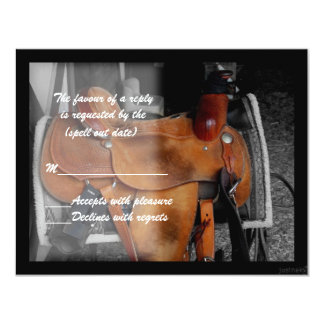 saddle i rsvp card