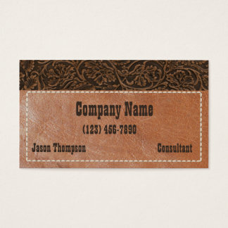 Saddle Leather Business Card
