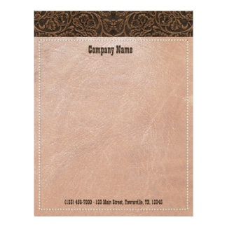 Saddle Leather Letterhead