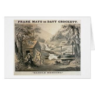 'Saddle Mending', Poster for 'Davy Crockett' starr Card