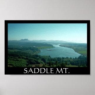 Saddle Mountain Black Poster